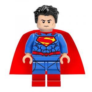 Lego Superman with cape, bright blue