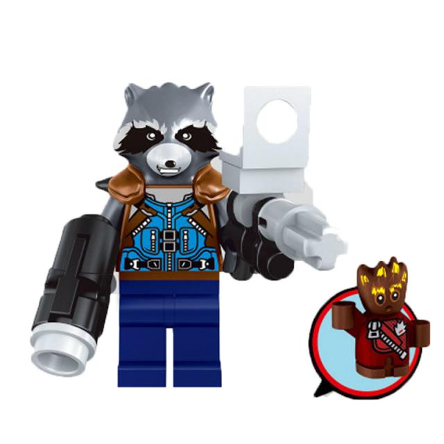 Lego Rocket Raccoon with Groot