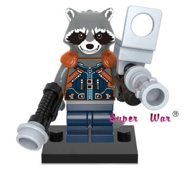 Lego Compatible Rocket Raccoon Minifigure